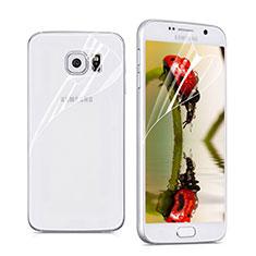 Pellicola Protettiva Fronte e Retro Proteggi Schermo Film per Samsung Galaxy S6 Duos SM-G920F G9200 Chiaro