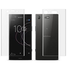 Pellicola Protettiva Fronte e Retro Proteggi Schermo Film per Sony Xperia XZ1 Compact Chiaro