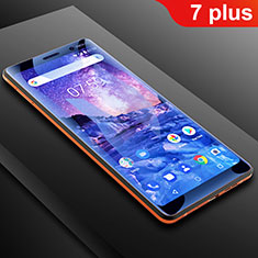 Pellicola Protettiva Proteggi Schermo Film Integrale Anti Blu-Ray B01 per Nokia 7 Plus Chiaro