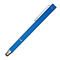 Penna Pennino Pen Touch Screen Capacitivo Universale P16 per Apple iPhone 8 Plus Blu