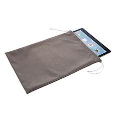 Sacchetto in Velluto Cover Marsupio Tasca per Samsung Galaxy Tab S6 Lite 4G 10.4 SM-P615 Grigio