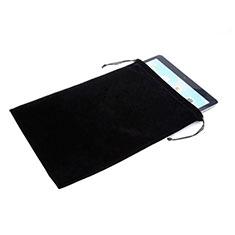 Sacchetto in Velluto Custodia Marsupio Tasca per Huawei MediaPad X2 Nero