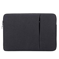 Sacchetto in Velluto Custodia Tasca Marsupio L04 per Huawei Honor MagicBook 15 Nero
