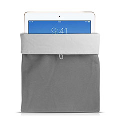 Sacchetto in Velluto Custodia Tasca Marsupio per Apple iPad Pro 12.9 (2017) Grigio
