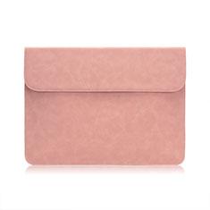 Sacchetto in Velluto Custodia Tasca Marsupio per Huawei Honor MagicBook 15 Rosa
