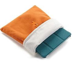 Sacchetto in Velluto Custodia Tasca Marsupio per Huawei MediaPad M6 10.8 Arancione