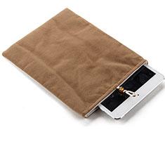 Sacchetto in Velluto Custodia Tasca Marsupio per Huawei MediaPad M6 10.8 Marrone