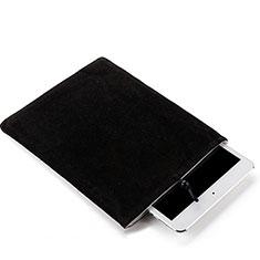 Sacchetto in Velluto Custodia Tasca Marsupio per Samsung Galaxy Tab S6 Lite 10.4 SM-P610 Nero