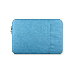 Sacchetto in Velluto Custodia Tasca Marsupio S03 per Huawei Honor MagicBook Pro (2020) 16.1 Cielo Blu