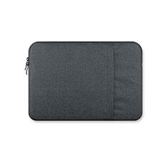 Sacchetto in Velluto Custodia Tasca Marsupio S03 per Huawei Honor MagicBook Pro (2020) 16.1 Grigio Scuro