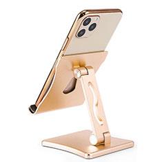 Sostegno Cellulari Supporto Smartphone Universale K32 per Samsung Galaxy J3 Star Oro
