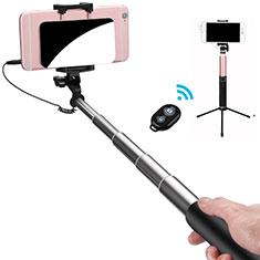 Sostegnotile Bluetooth Selfie Stick Allungabile Bastone Selfie Universale S15 per Huawei Y7 Prime Nero