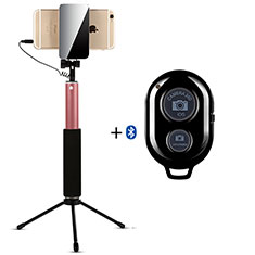 Sostegnotile Bluetooth Selfie Stick Allungabile Bastone Selfie Universale S15 per Huawei Y7 Prime Oro