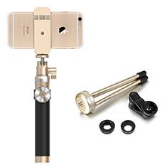 Sostegnotile Bluetooth Selfie Stick Allungabile Bastone Selfie Universale S16 per Huawei Y7 Prime Oro
