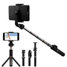 Sostegnotile Bluetooth Selfie Stick Allungabile Bastone Selfie Universale S23 per Apple iPhone 11 Pro Nero