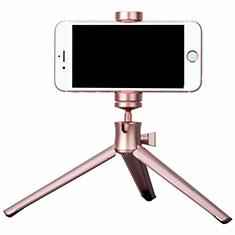 Sostegnotile Bluetooth Selfie Stick Tripode Allungabile Bastone Selfie Universale T10 per Samsung Galaxy A70 Oro Rosa