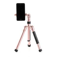 Sostegnotile Bluetooth Selfie Stick Tripode Allungabile Bastone Selfie Universale T15 per Samsung Galaxy A70 Oro Rosa
