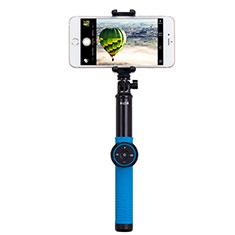 Sostegnotile Bluetooth Selfie Stick Tripode Allungabile Bastone Selfie Universale T21 per Samsung Galaxy Note 10 5G Blu