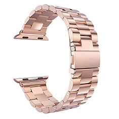 Stainless Cinturino Braccialetto Acciaio per Apple iWatch 5 44mm Oro Rosa