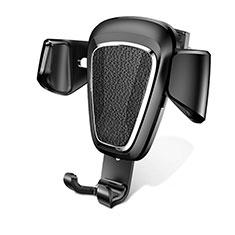 Supporto Cellulare Da Auto Bocchette Aria Universale A02 per LG K62 Nero