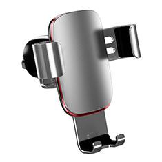 Supporto Cellulare Da Auto Bocchette Aria Universale A04 per Apple iPhone 11 Pro Argento