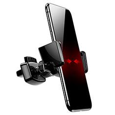 Supporto Cellulare Da Auto Bocchette Aria Universale A05 per LG K62 Nero