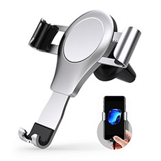 Supporto Cellulare Da Auto Bocchette Aria Universale R01 per LG K62 Argento