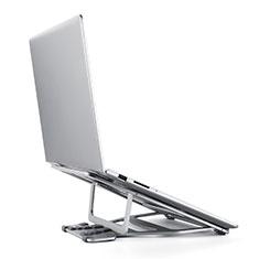 Supporto Computer Sostegnotile Notebook Universale K03 per Huawei MateBook D15 (2020) 15.6 Argento