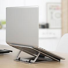 Supporto Computer Sostegnotile Notebook Universale K04 per Huawei MateBook D15 (2020) 15.6 Argento