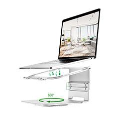 Supporto Computer Sostegnotile Notebook Universale S07 per Apple MacBook Air 13 pollici.3 (2018) Argento