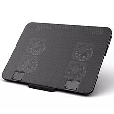 Supporto per Latpop Sostegnotile Notebook Ventola Raffreddamiento Stand USB Dissipatore Da 9 a 16 Pollici Universale M21 per Apple MacBook 12 pollici Nero