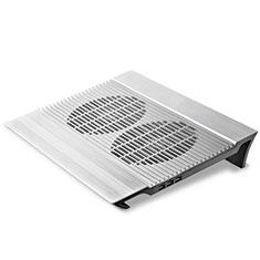 Supporto per Latpop Sostegnotile Notebook Ventola Raffreddamiento Stand USB Dissipatore Da 9 a 16 Pollici Universale M26 per Apple MacBook 12 pollici Argento