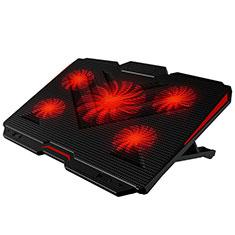 Supporto per Latpop Sostegnotile Notebook Ventola Raffreddamiento Stand USB Dissipatore Da 9 a 17 Pollici Universale L02 per Apple MacBook Air 11 pollici Nero