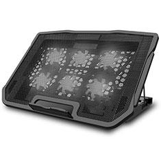 Supporto per Latpop Sostegnotile Notebook Ventola Raffreddamiento Stand USB Dissipatore Da 9 a 17 Pollici Universale L03 per Apple MacBook 12 pollici Nero