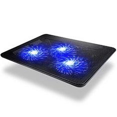 Supporto per Latpop Sostegnotile Notebook Ventola Raffreddamiento Stand USB Dissipatore Da 9 a 17 Pollici Universale L04 per Apple MacBook 12 pollici Nero