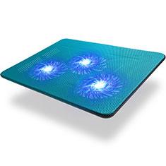 Supporto per Latpop Sostegnotile Notebook Ventola Raffreddamiento Stand USB Dissipatore Da 9 a 17 Pollici Universale L04 per Apple MacBook Air 11 pollici Blu