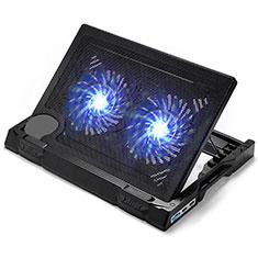 Supporto per Latpop Sostegnotile Notebook Ventola Raffreddamiento Stand USB Dissipatore Da 9 a 17 Pollici Universale L06 per Apple MacBook 12 pollici Nero