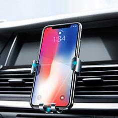 Supporto Sostegno Cellulari Bocchette Aria Da Auto Bocchette Aria Universale Z02 per Huawei Enjoy 6 Argento