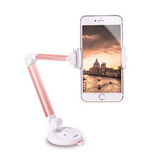 Supporto Sostegno Cellulari Con Ventosa Da Auto Universale H06 per LG K62 Oro Rosa