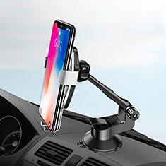 Supporto Sostegno Cellulari Con Ventosa Da Auto Universale H10 per Xiaomi Mi 9T Pro Argento