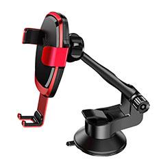 Supporto Sostegno Cellulari Con Ventosa Da Auto Universale H10 Rosso