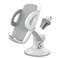 Supporto Sostegno Cellulari Con Ventosa Da Auto Universale H12 per LG K62 Bianco