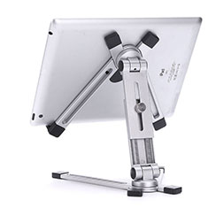 Supporto Tablet PC Flessibile Sostegno Tablet Universale K19 per Apple iPad New Air (2019) 10.5 Argento