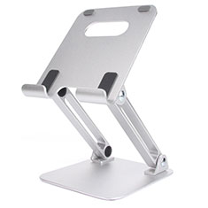 Supporto Tablet PC Flessibile Sostegno Tablet Universale K20 per Apple iPad New Air (2019) 10.5 Argento
