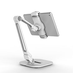 Supporto Tablet PC Flessibile Sostegno Tablet Universale T44 per Samsung Galaxy Note 10.1 2014 SM-P600 Argento