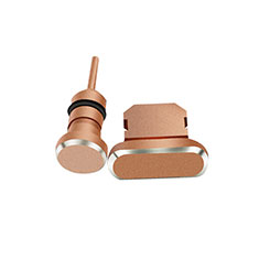 Tappi Antipolvere Anti-dust Lightning USB Jack Antipolvere J01 per Apple iPad New Air (2019) 10.5 Oro Rosa