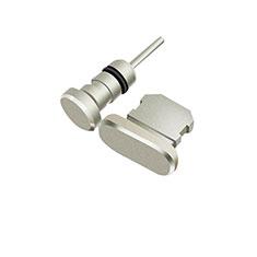 Tappi Antipolvere Anti-dust Lightning USB Jack Antipolvere J01 per Apple iPhone 11 Argento