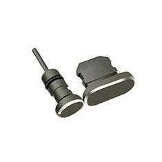 Tappi Antipolvere Anti-dust Lightning USB Jack Antipolvere J01 per Apple iPhone 7 Nero