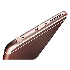 Tappi Antipolvere Anti-dust Lightning USB Jack Antipolvere J02 per Apple iPad Pro 12.9 (2018) Oro Rosa