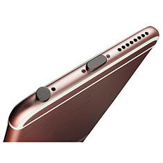 Tappi Antipolvere Anti-dust Lightning USB Jack Antipolvere J02 per Apple iPhone 5 Nero